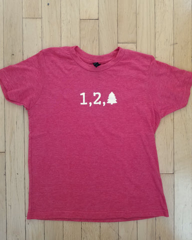One Two Tree Kids Red Tee