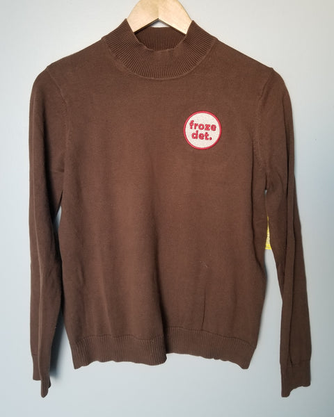 Froze Det Upcycled Brown Sweater Ladies S