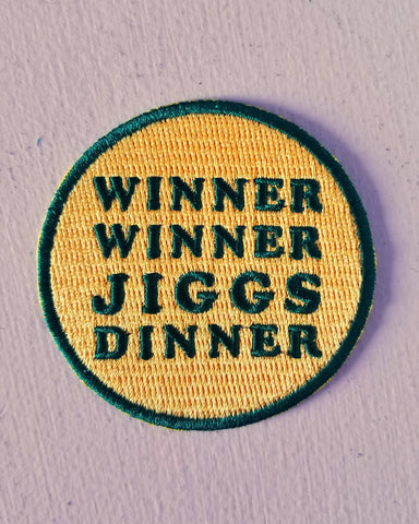 Jiggs Dinner Embroidered Patch