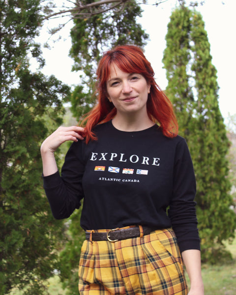 Explore Atlantic Canada Flags Unisex Long-Sleeve