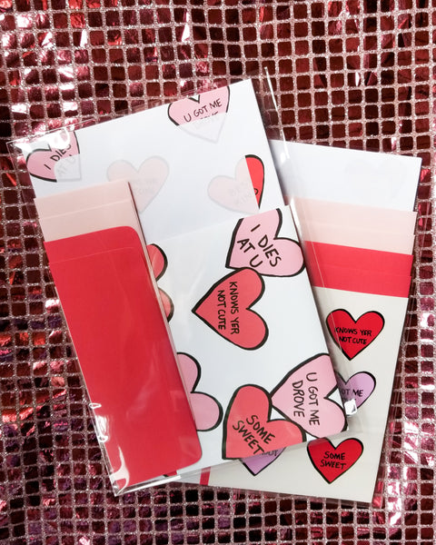 Candy Hearts Letter Writing Set