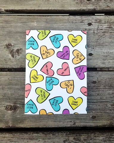 Candy Hearts Lined Notebook