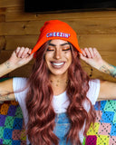 Cheezin' Orange Beanie