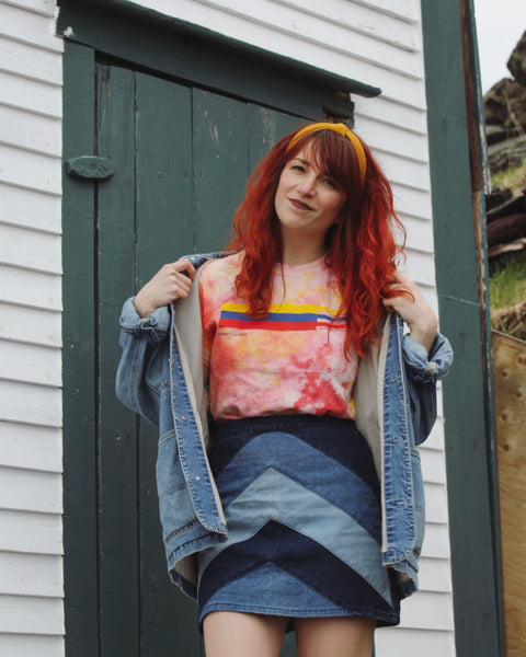 Hand Dyed Primary Stripes Unisex Tee