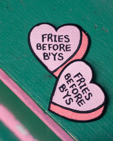 Fries Before B'ys Heart Patch