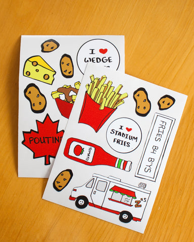 French Fries Stickers (2-pk)