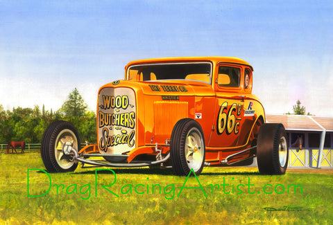 Drag Racing Art...Hot Rods, Altereds, Gassers