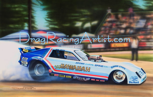 Roland Leong's 82 Hawaiian Charger FC...Drag Racing Art Print