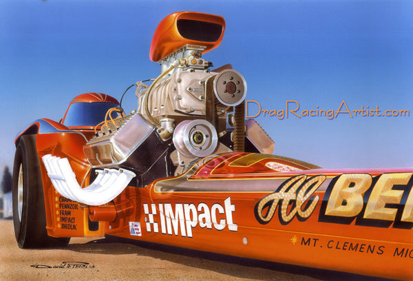 "Al's Impact...Al Bergler's ""More Aggravation"" Comp Dragster.... Drag Racing Art"
