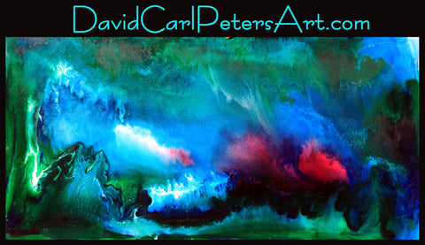 Blue Cave...Abstract Art By David Carl Peters