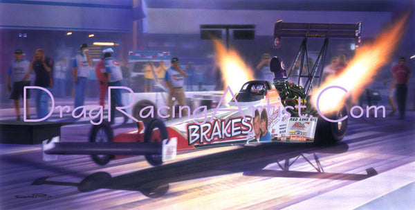 """For My Boys ""  Doug Herbert's ""Brakes"" Top Fueler.... Drag Racing Art"