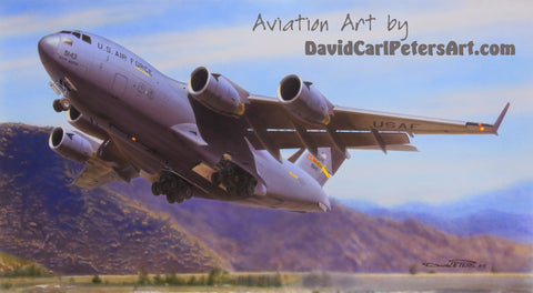 C-17 Globemaster III...Aviation Art by David Carl Peters