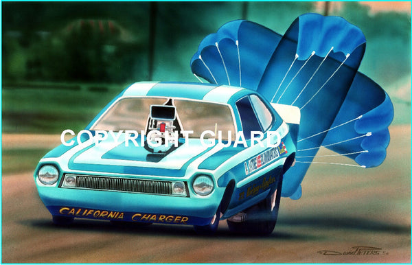California Chargin Pinto....... Drag Racing Art