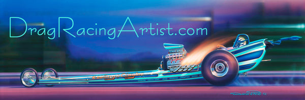 """California Chargin""   KEELING & CLAYTON 71 TF...Drag Racing Art"