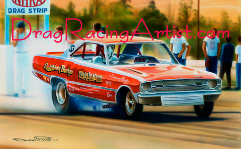 Drag Racing Art Fxs To Funny Cars The Art Of David