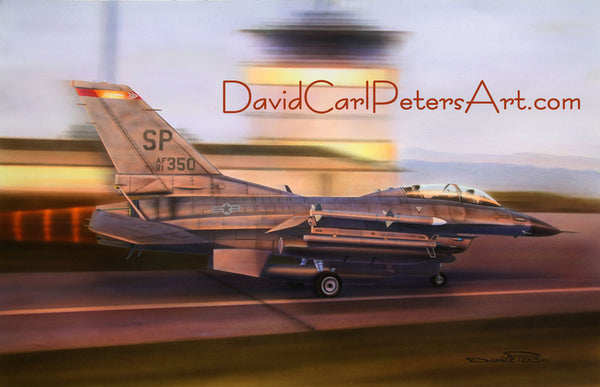 "F-16D ""By the Dawns early Light"" Aviation Art"