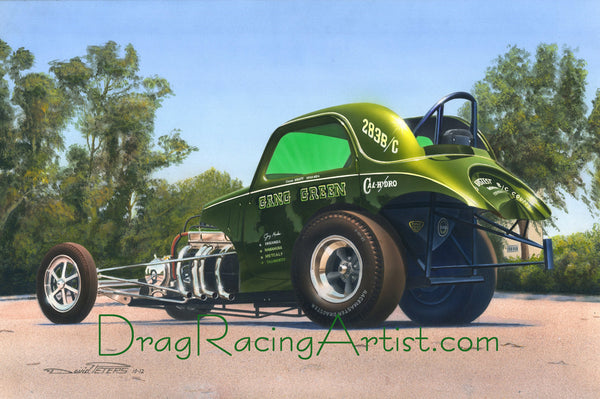 Gang Green.... Drag Racing Art