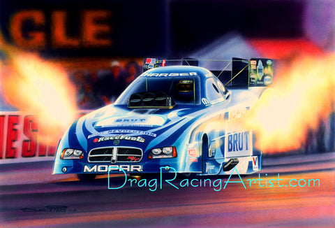 """Hard Charger""  Ron Capps Dodge Chager FC...Drag Racing Artist"