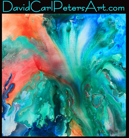 JUMP!  Abstract Art by David Carl Peters