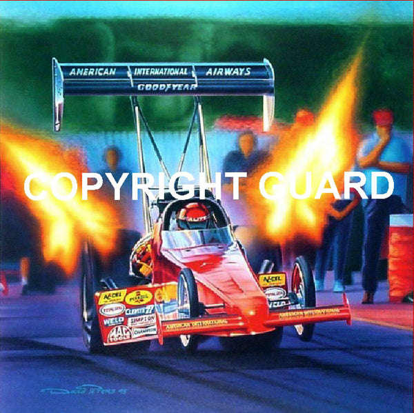 The Launch....signed and number by Scott Kalitta and the Artist....Drag Racing Art