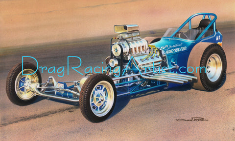 Mooneyham & Sharp Dragster.... Drag Racing Art