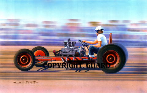 Rail-Job.... Drag Racing Art