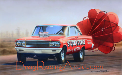 "The Legend Lives On. ..Jim Wetton's ""Studio Dodge"" ...Drag Racing Print"