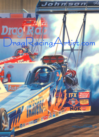 Victory in the Vineyards... Blaine Johnson...Drag Racing Print