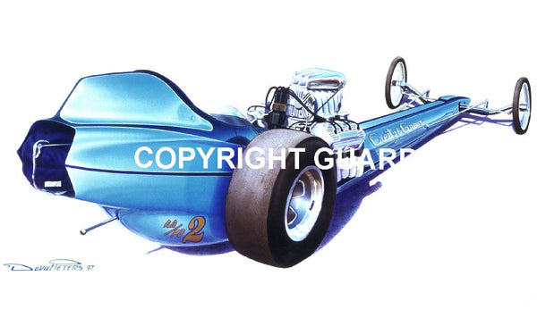 Creitz & Greer 1967 AA/FD....... Drag Racing Art