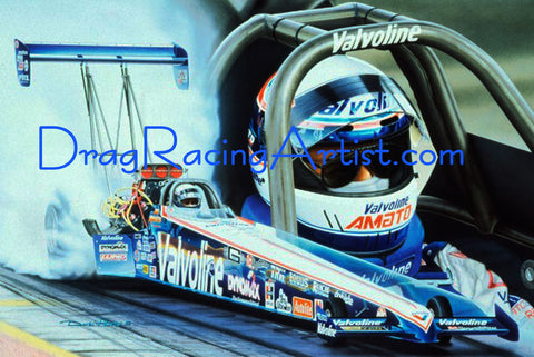 """Portrait of a Champion"".  Joe Amato signed Limited Edition...Drag Racing Art"