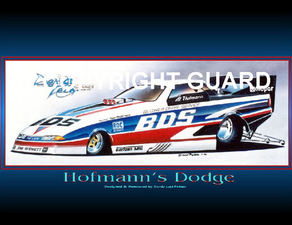 """Hofmann's Dodge""...Al Hofmann's Daytona....Drag Racing Art"