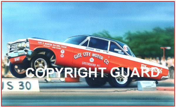 "The ""Paper Tiger""...Ronnie Sox & Bud Martin's 65 Plymouth Belvedere FX Match-Racer"