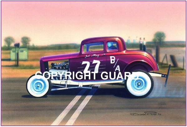 Plum Deuce & a Six-Pack.... Drag Racing Art