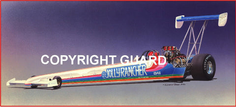 """TOP FUEL CANDY""    Shelly Anderson's ""Jolly Rancher"" Top Fueler.... Drag Racing Art"