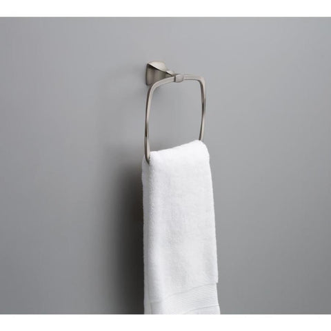 Delta Sawyer Satin Nickel Towel Ring Design Inspiration