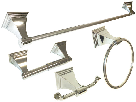 Polished Chrome Bathroom Accessory Set