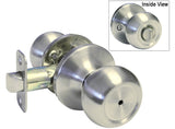 Satin Nickel Privacy Handle Round Knob - Style 5765DC