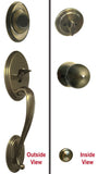 Antique Brass Front Door Entry Handle Set Dummy - Style 5765AB