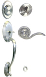 Satin Nickel Front Door Handle Set Dummy - Style 6300DC