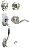 Satin Nickel Front Door Handle Set For Thick Door - Style 6300DC