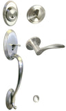 Satin Nickel Front Door Handle Set - Style 836DC