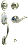 Satin Nickel Front Door Handle Set For Thick Door - Style 838DC