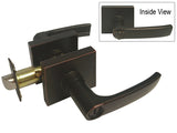 Dark Oil Rubbed Bronze Square Plate Privacy Handle Lever - Style 8048DBR
