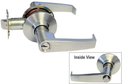 Satin Nickel Entry Handle Handicap Friendly Lever - Style 8101S01DC