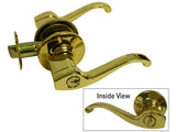 Polished Brass Entrance Handle Lever - Style 835PB