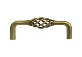"Antique Brass Cabinet Drawer 3"" Bird Cage Pull 1301 76MM"