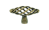 "Antique Brass Cabinet Drawer 2 3/8"" Bird Cage Knob 1338 60MM"
