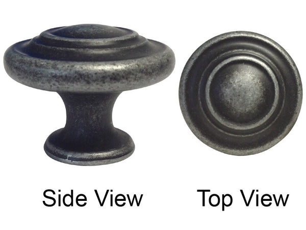 Antique Pewter Cabinet Drawer 1 1 4 Quot Ring Knob 5033 32mm