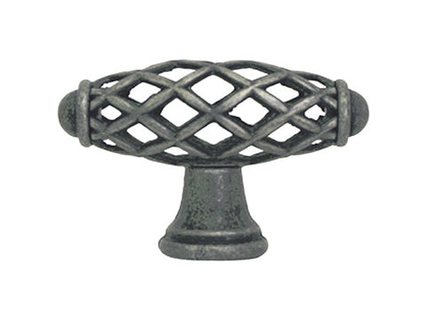"Antique Pewter Cabinet Drawer 2-1/4"" Bird Cage Knob 749 58MM"