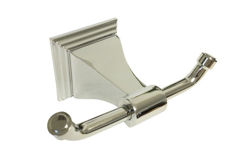 Polished Chrome Double Robe Holder - Series BA12-CR